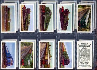 Trade Card Set GP Tea British Railway Train Railroad Locomotive 1962