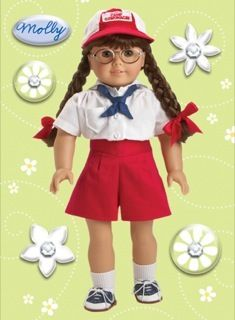 American Girl Crafs Molly McInire Doll Sickers