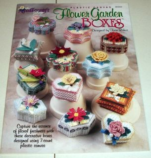 PLASTIC CANVAS PATTERNS ~ FLOWER GARDEN BOXES ~ FABULOUS ~ ~ ~