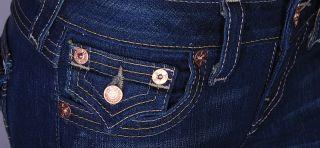 220 True Religion Jeans Becky Triple Del Mar 26 27