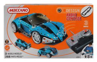 Meccano (Erector) Design RC Concept Blue Car 3Models 260 Parts Full
