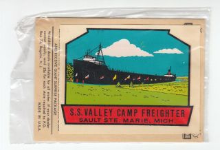 Auto Luggage Water Decal Transfer s s Valley Camp Freighter MI