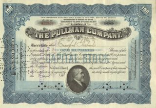 George Pullman Company Railroad Stock Certificate Share
