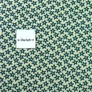 Henry Glass Cotton Fabric Civil War Collection Green Stars on Cream