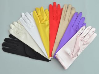 AU 21 Fingerless Long Satin Wedding Fancy Gloves GV58