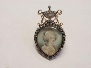 Rosecut Diamond Heart Locket Georgiana Duchess of Devonshire