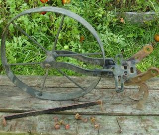 Garden Cultivator Planet Jr Style Cast Iron Frame Wheel