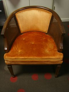 Hollywood Regency French Provincial Club Barrel Chair Sam Moore