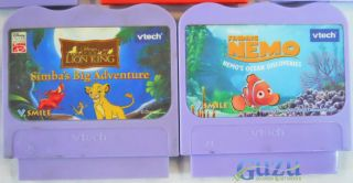 Vtech V Smile Games Lot Go Diego Go Lion King Finding Nemo Dora