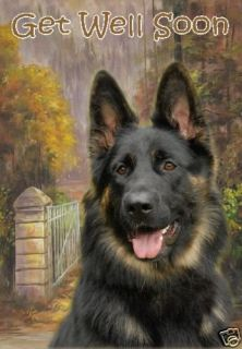 German Shepherd Dog Get Well Soon Card Starprint No 1