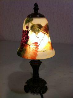 Glynda Turley Lamp Reverse Painted Lamp 2002