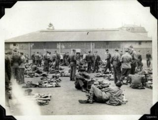 WWII Bremerhaven Germany 3rd Div 15th Inf Motor Pool