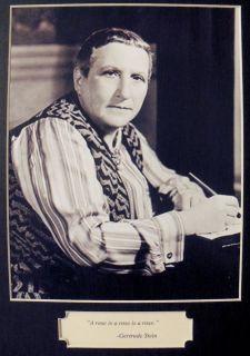 Gertrude Stein Gay Jewish Author Photo Quote Framed
