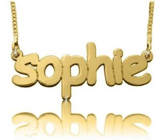Charm Jewelry Gold Name Necklace Plate Charm Custom 14k Personalised