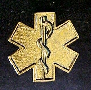 EMT EMS Gold Plated Star of Life Lapel Pin Tac New 5030