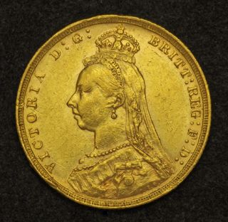Britain Queen Victoria Beautiful Gold Sovereign Coin 7 97gm