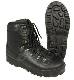 German Army Style Black Mountain Boots All Sizes Military Modern Shoes