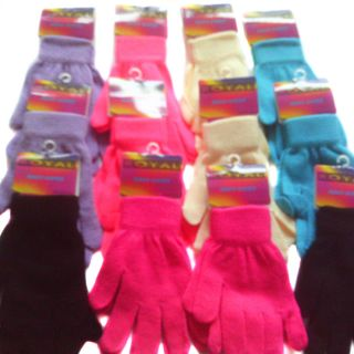 10 Pairs Womens Magic Gloves Mixed Colours High Quality