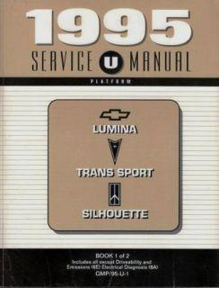1995 GM Mini Vans Factory Service Manual Set 2 Books