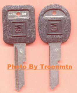 GM 1969 Chevy Nova Black Molded Key Blank Set