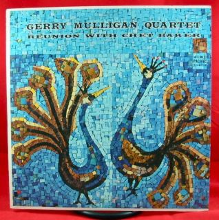 Gerry Mulligan Reunion with Chet Baker LP World Pacific Mono DG Orig