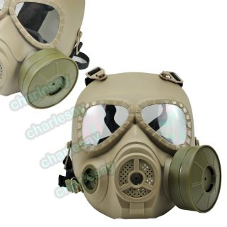 M04 Wargame Airsoft Dummy Gas Mask Cosplay Protection Gear AEG GBB Tan