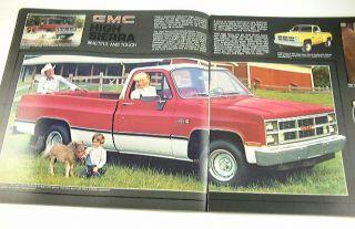 1984 84 GMC Pickup Truck Brochure Sierra C1500 C2500