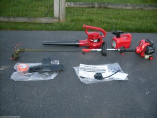 Troy BILT Trimmer, TORO Electric Power Blower & 1 Gallon Gas Can