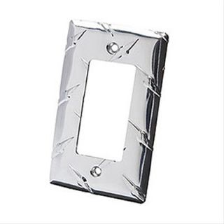OTE Wallplate Cover GFI Rocker Switch Polished Diamond Plate Ea