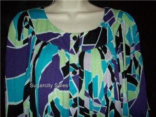 Go Softly Rayon Muu Patio Duster House Dress XL