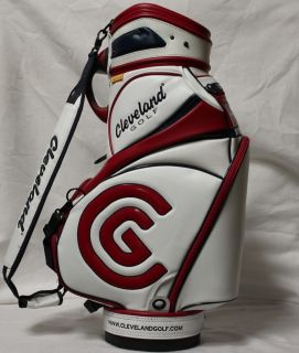 New Cleveland Staff Golf Bag White Red Blue