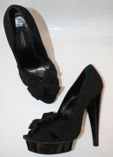 Giambattista Valli Black Platform Heels New Sandals 38