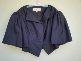 Giambattista Valli 46 12 Large Black Cotton Silk Cropped Jacket
