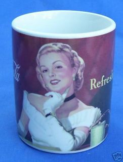 Gibson Coca Cola Coke Blonde Pin Up Girl Coffee Mug Cup