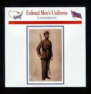 Enlisted Mens Uniforms Civil War History Card Confederate