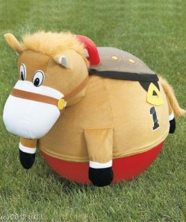 FUN GIDDY UP RACING HORSE HOPPER BOUNCER BALL w PLUSH FABRIC COVER AND