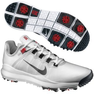 Nike Mens TW 2013 Golf Shoes White Grey New