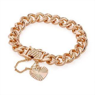 New Especially Design 24K Rose Gold Filled Noble Bracelet Fine Chain