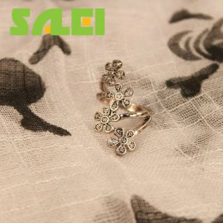 Retro Five Wintersweet Plum Blossom Flower Ring Gift Accessory
