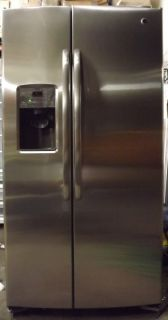 GE Adora 36 25 9 CU ft Side by Side Stainless Steel Refrigerator