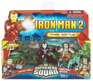 IRON MAN 2   Super Hero Squad   FIGURES  final battle   3 pcs   NEW