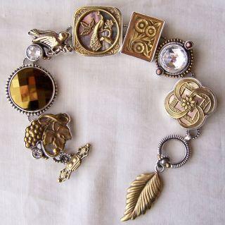 Mars Valentine Echo of The Dreamer Gilded Age Peacock Bracelet