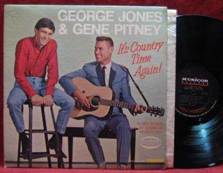 George Jones Gene Pitney Its Country Time Again LP Vinyl Record Album
