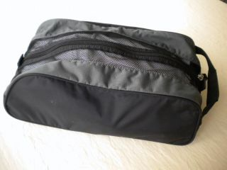 Nike Golf Black Gray Logo Golf Shoe Bag Tote