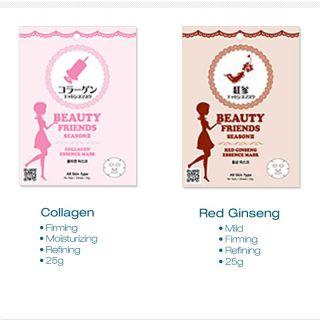 Collagen Red Ginseng Korean Beauty Facel Essence Face Mask Sheet Pack