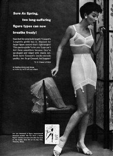 Gossard Longfellow Pantie Gridle Garters Bra Sure as Spring 1956