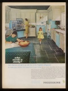 1963 Frigidaire Flair double oven pull out range blue appliances photo