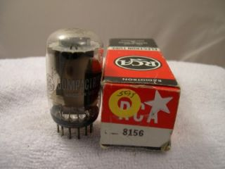 Vintage Electronic Vacuum Tube General Electric 8156 Used