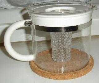 Bodum Glass Teapot Looseleaf Infuser Tea Kettle 4 Cup Brewer w Cork