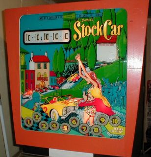 Gottlieb Stock Car Pinball Machine 1970 1 of 350 Made